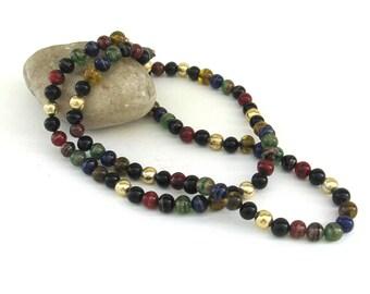 vintage venetian glass necklace ...  handmade  glass beads   ...  venice  italy