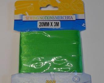 20mm wide green satin ribbon 3 meters