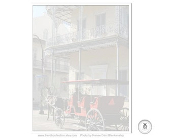 Red Carriage Notepad