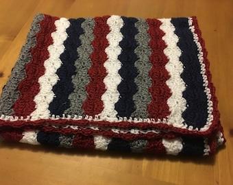 Hand made crocheted baby blanket - custom