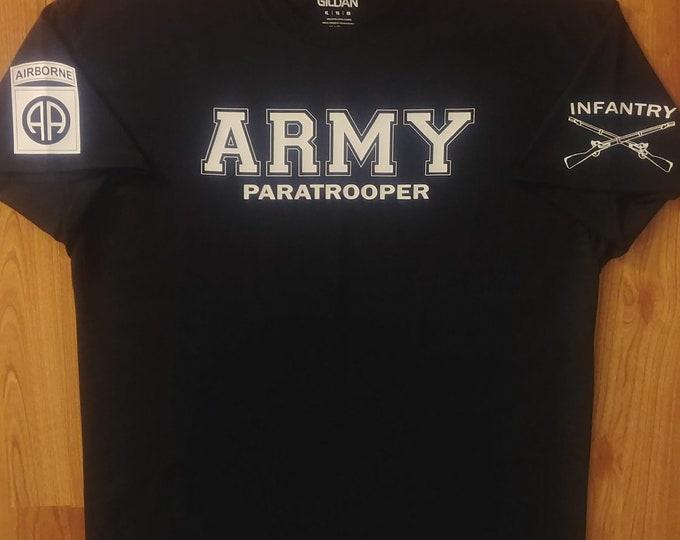 Army - 82nd Airborne - Infantry - Mens Army Shirt - 12 Bravo - Army National Guard - Army Veteran - Paratrooper - US Army - 11 Bravo
