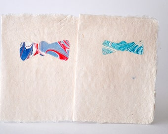 Hand Made Fathers Day Cards with Marbled Bow Ties or Neck Ties on Front