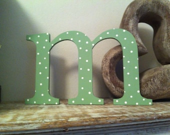 Handpainted Wooden Wall Letter - m - New Times Roman - lowercase