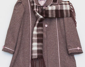 1950's Inspired Girls Coat and Scarf