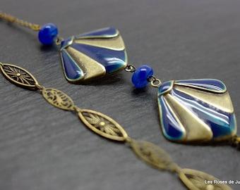Art deco Theodora necklace, art deco long necklace
