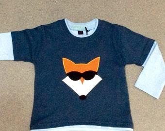 Funky fox long sleeved skater boy t shirt