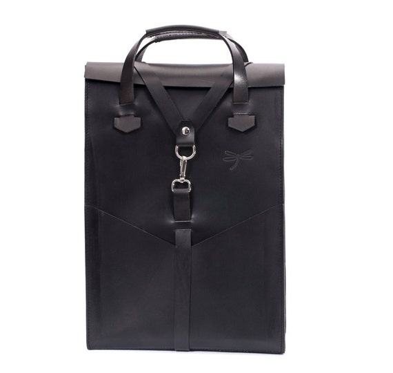 """Natural Leather Backpack for MacBook 15""""/13""""/12""""/11"""", Leather school bag, with the removables shoulder-straps and handles."""