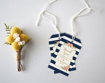 Wedding Favor Tags  Wedding Favors  Party Favors  Favor Tags  Gift Tags  Custom Tag  Wedding Tag  Favor Wedding Tags, Nautical
