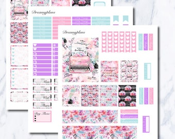 Our Love Story Printable Vertical Erin Condren Planner Stickers Kikki K Personal