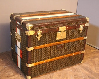 1920's Goyard Steamer Trunk