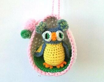 Amigurumi owl toy, Crochet owl, Plush, Cute owl for DollHouse, Stuffed owl doll, Knitted owl, Stuffed animal, Owl toy, Cotton stuffed animal