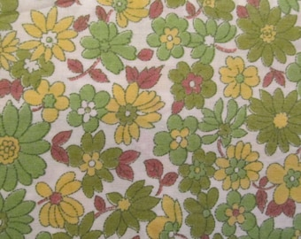 Vintage floral cotton 1 3/8 yard x 35 inches more available SALE