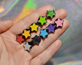 Glitter Stars Hard Enamel Pin