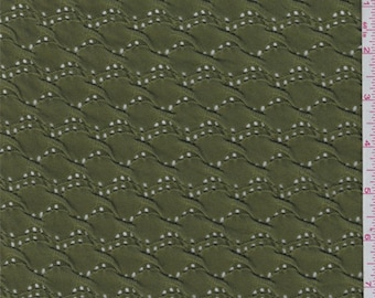 Olive Puckered Novelty Knit, Fabric By The Yard