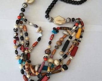 Multi Strand Vintage Ethnic Necklace