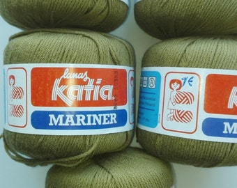 Khaki yarn, cotton yarn, yarn lot, cheap yarn, Katia yarn, medium yarn, worsted yarn, afghan yarn, aran yarn, green yarn, camouflage yarn