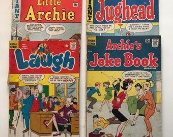 Little Archie Comics collection of four 1965 Jughead Laugh Joke Book