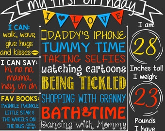 Transportation Cars First Birthday Chalkboard Poster | Transport vehicles - bus - truck - plane | Primary Colors | DIGITAL FILE - PRINTABLE