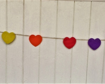 Rainbow Heart Party Bunting
