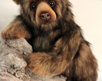 Machk,  collectible Artist Bear, mohair bear, teddy bear
