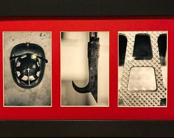 Custom - Firefighter Letter Art Framed and Matted