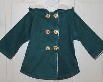 "Children's jacket ""Small World Explorer"", size 74/80, corduroy jacket with Nicki lining"
