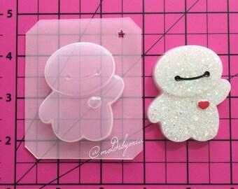 ON SALE! Cutie robot flexible plastic resin mold