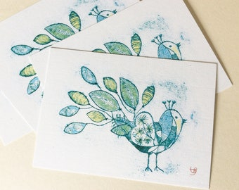 Set of 4 postcards recycled paper carbon neutral printed in Germany LIMONE