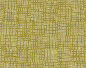 Maker Maker Grid Fabric in Yellow (ALN-8456-Y) - HALF Yard - by Sarah Golden for Andover Fabrics