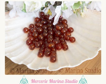 carnelian natural 8mm or 6mm - semi precious beads 10 beads