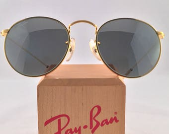 Vintage Ray Ban Bausch and Lomb Round Metal Arista Silver G31 Mirror 49mm New