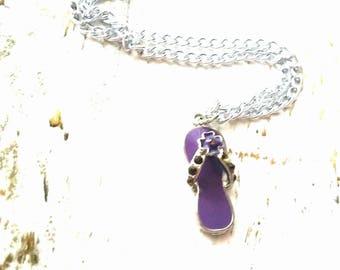 Purple Flip Flop Necklace - Final sale