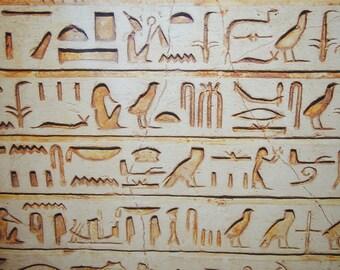 Egypt Hieroglyphs Canvas.Egypt Hieroglyphs Art Wall. Giclee Art.Egypt Canvas.Olga's Treasures Shop