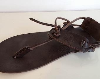 Barefoot Men sandals, Handmade sandals, Sparta sandals, Genuine leather Barefoot Huarache sandals. New Barefoot, Free shipping!