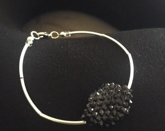 Smooth Silver-plated tube bracelet
