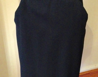Vintage 1940s Black High-waisted Skirt