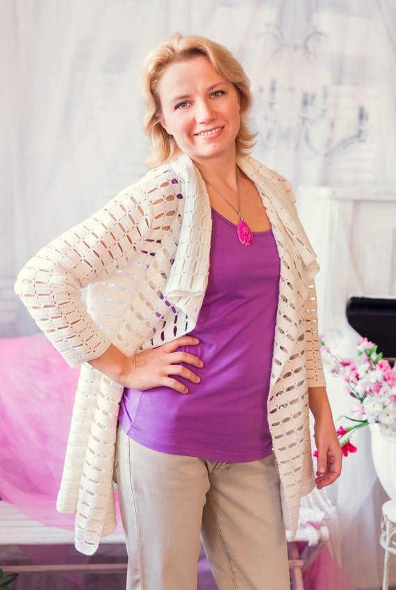 Crochet Cardigan Pattern Wool Cardigan Tutorial Simple