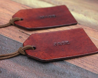 Personalised Leather Tag, Gift Tag, Name Tag, Luggage Tag, Gift Wrapping, Custom Leather Tag