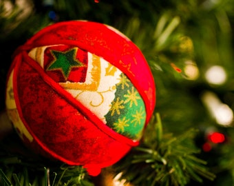 Red-dy for Christmas! Ornamental Kimekomi