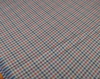 "Pure New Wool Checked Plaid ""Tweed"" Fabric 150 cm / 62 inches wide  90 cm"