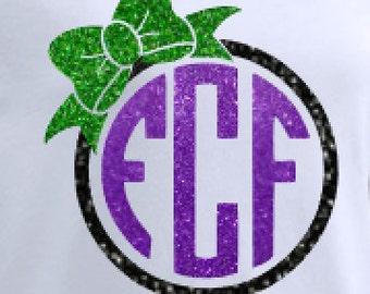 First Coast Fusion Monogram Glitter-