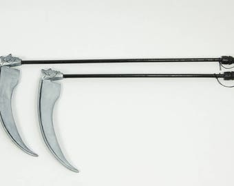 BJD accessories, decoration scythe, silver, for MSD, MNF or YoSD size ball jointed doll