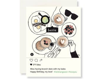 Funny Birthday Card Friend / Best Friend Birthday Card / Birthday Card for Her / Girlfriend Birthday Card / Birthday Cards / Funny Birthday