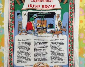 Vintage Traditional Irish Bread Recipe Tapestry Linen