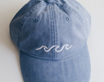 Three Waves Baseball Cap - Periwinkle
