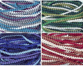 2-3mm Knobbly Braid, 10m pack - all colours.