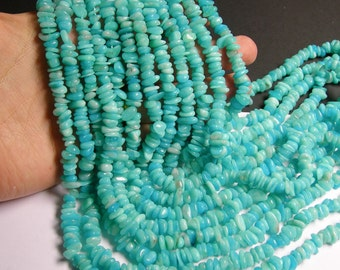 Amazonite - bead - full strand - pebble - chip stone - AA quality - PSC157