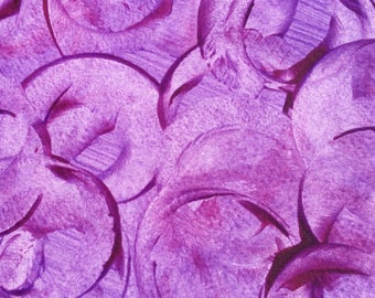 Hand decorated paste paper for all creative uses. Purples, pink.  Ref# 1710