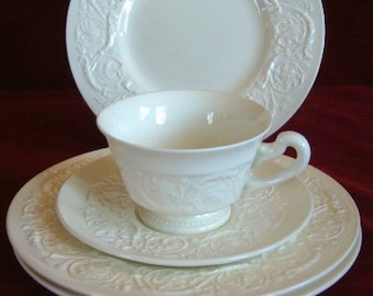 Wedgwood Patrician Cup, Saucer and 3 Salad Plates, Vintage PM550  ON SALE NOW