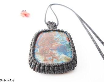 Azurite pendant, azurite necklace, azurite jewelry, azurite malachite, sea lovers, chrysocolla, the world from above, ocean lovers